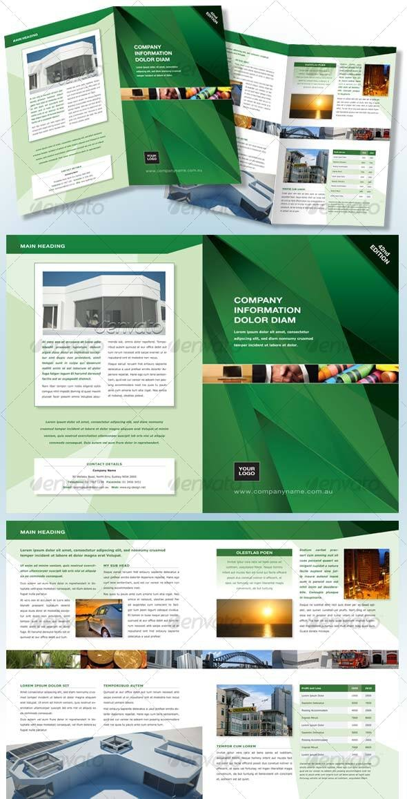 Green 4 page, A4 Generic Brochure - Corporate Brochures