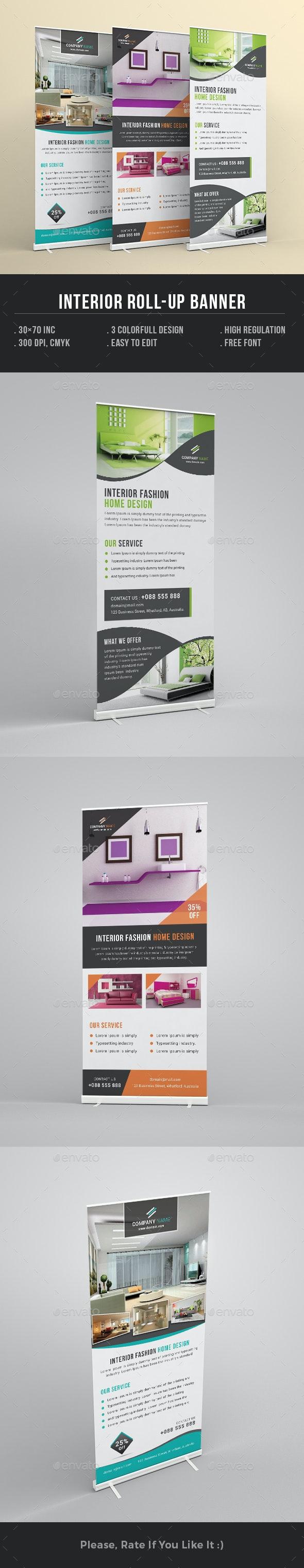 Interior Design Rollup Banner - Signage Print Templates