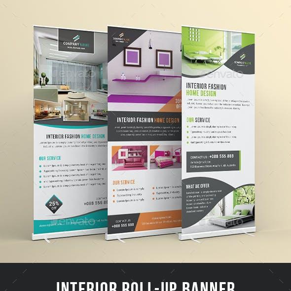 Interior Design Rollup Banner