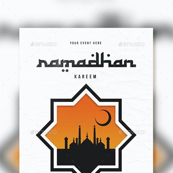 Ramadhan kareem flyer