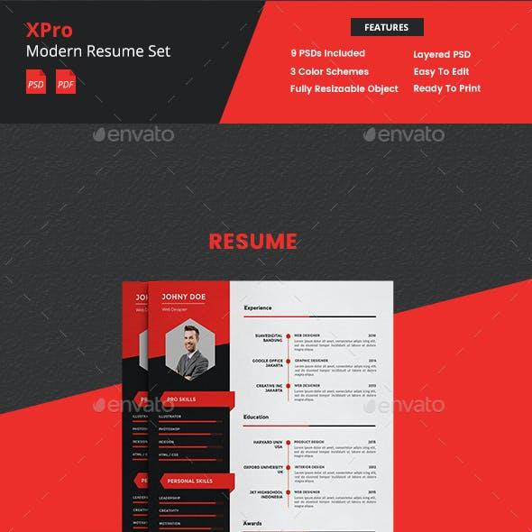 XPro - Modern Resume CV Portfolio