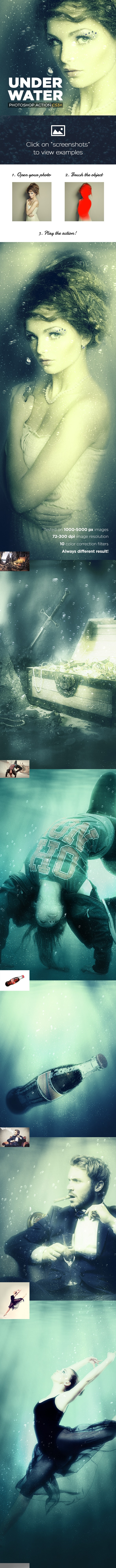 Underwater Photoshop Action CS3+ - Photo Effects Actions