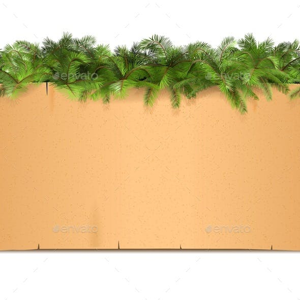 Paper Border with Palm
