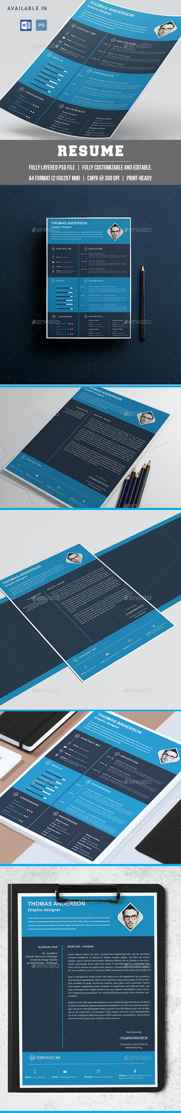 Cv & Cover Letter Template - Resumes Stationery