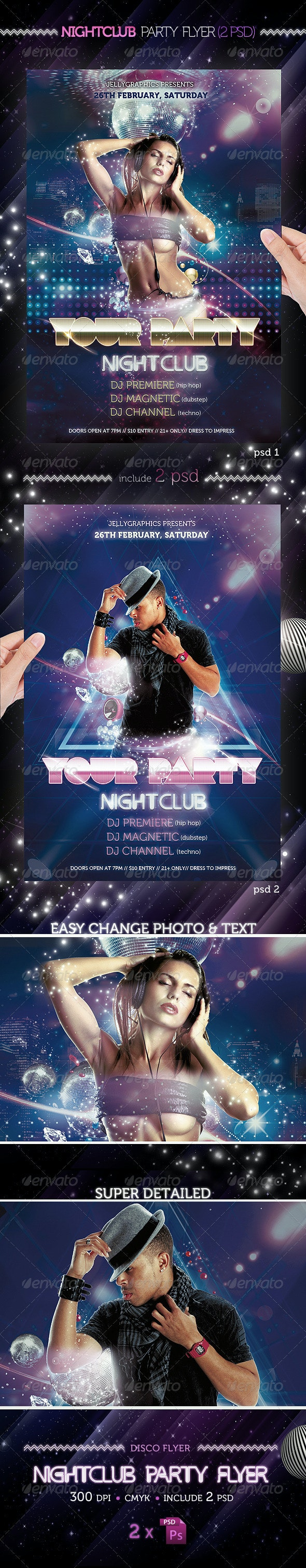 Nightclub Party Flyer Template - Clubs & Parties Events