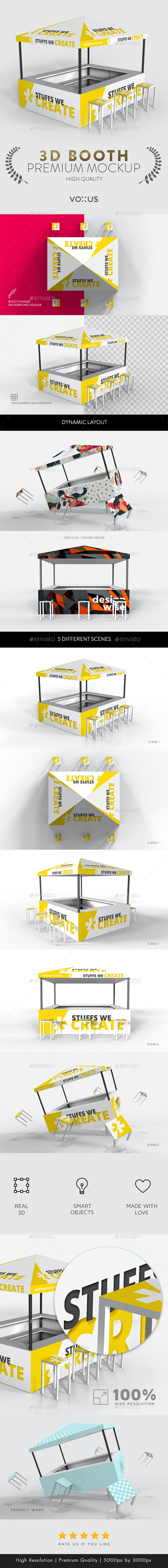 Exhibition   Event - Booth Mockup - Miscellaneous Print