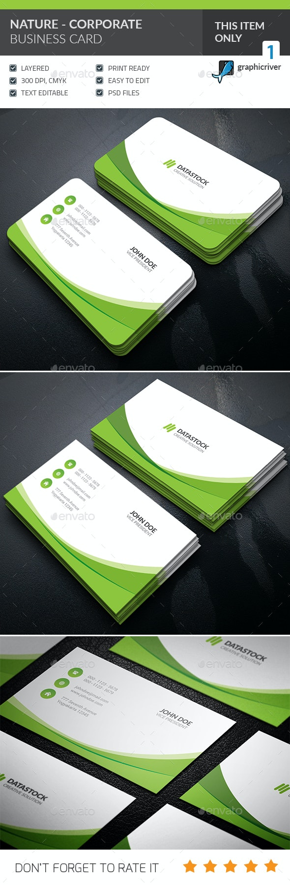 Nature Corporate Business Card - Corporate Business Cards