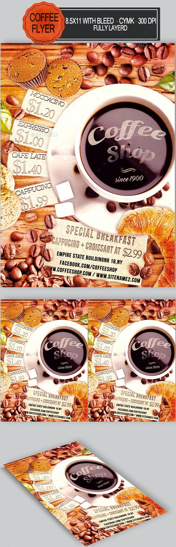 Coffee Shop Flyer Template - Restaurant Flyers
