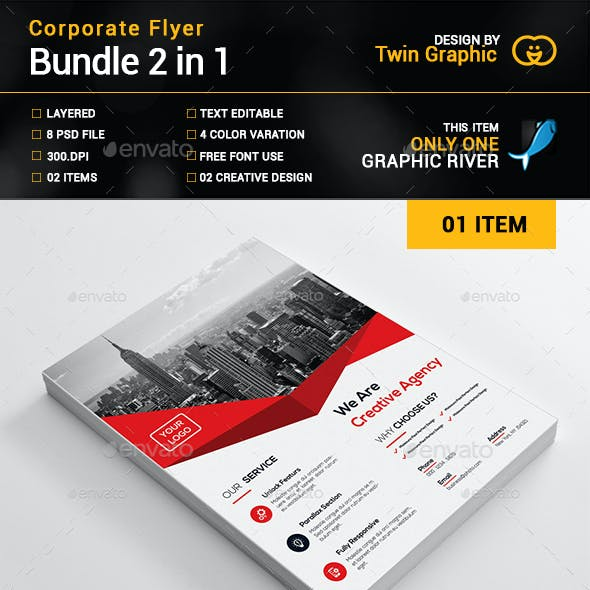 Corporate flyer Bundle_2 in 1
