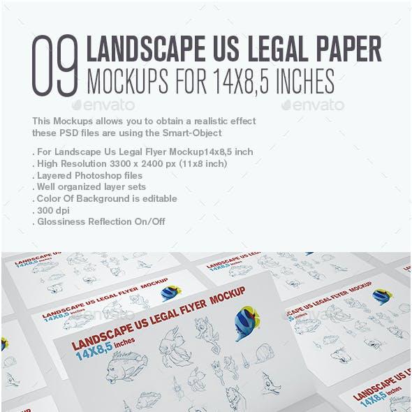 Landscape Us Legal Flyer Mockup