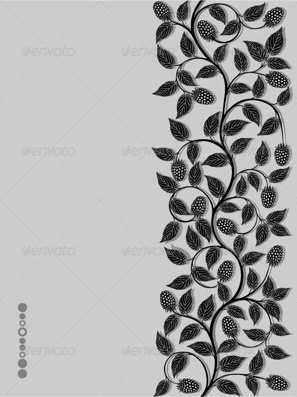 Floral background with a berries - Flowers & Plants Nature