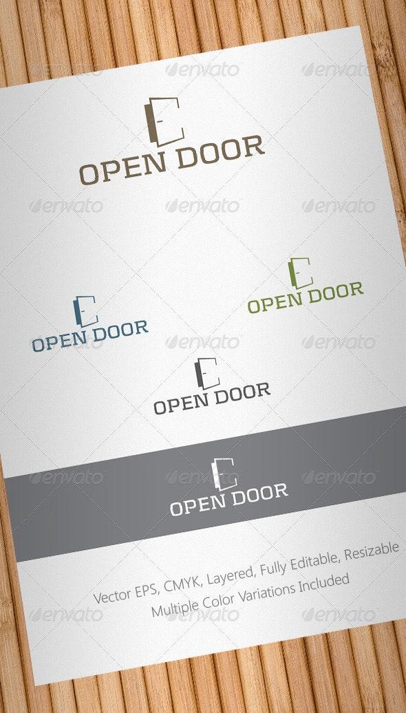 Open Door Logo Template - Objects Logo Templates