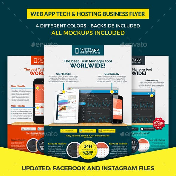 Web App Tech & Hosting Business Flyer