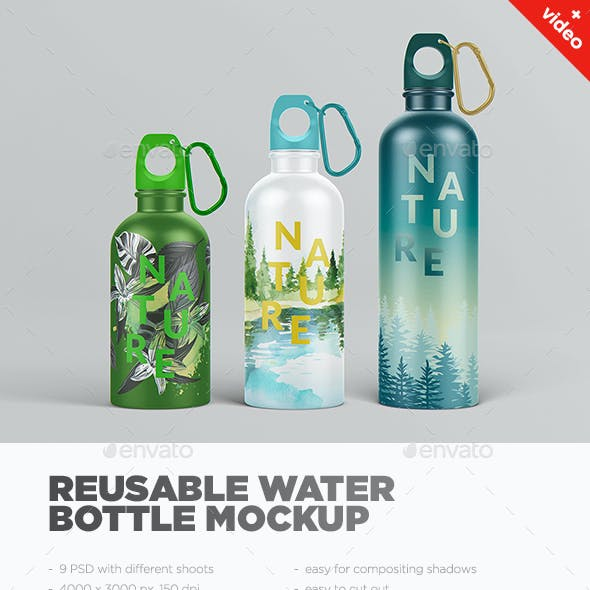 Reusable Water Bottle MockUp