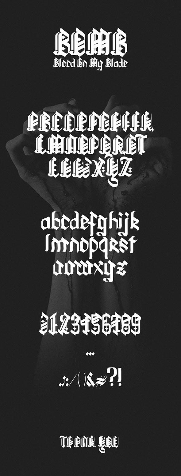 BloodOnMyBlade - Gothic Decorative