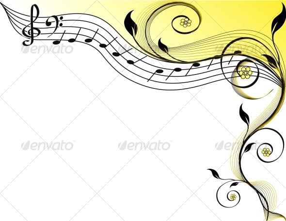 Music theme - Flourishes / Swirls Decorative