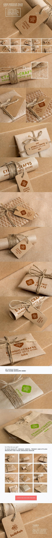 Logo Mockup Pack. Craft and Cardboard Edition - Logo Product Mock-Ups