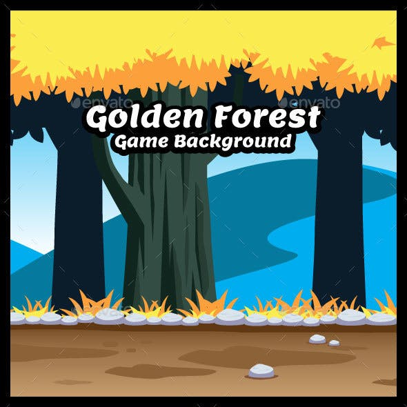Golden Forest Game Background