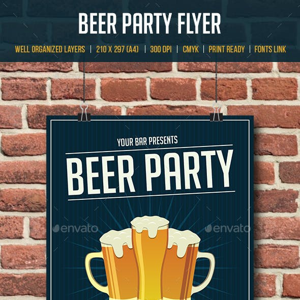 Beer Party Flyer