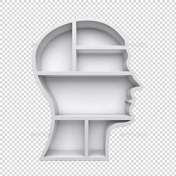 Head Shape 3D Shelves