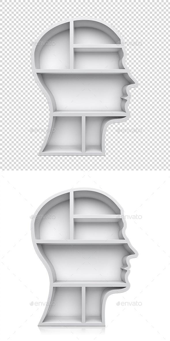 Head Shape 3D Shelves - Objects 3D Renders