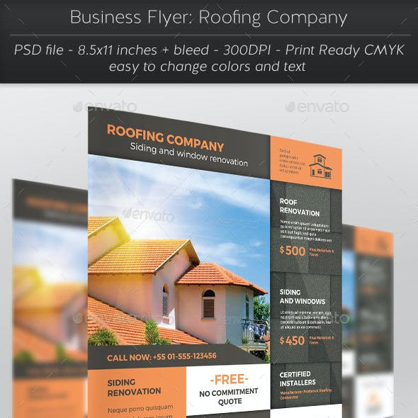 Business Flyer: Roofing Company