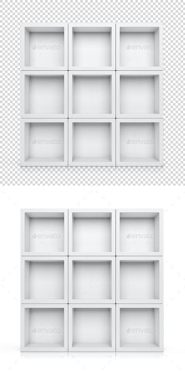Shelves - Objects 3D Renders