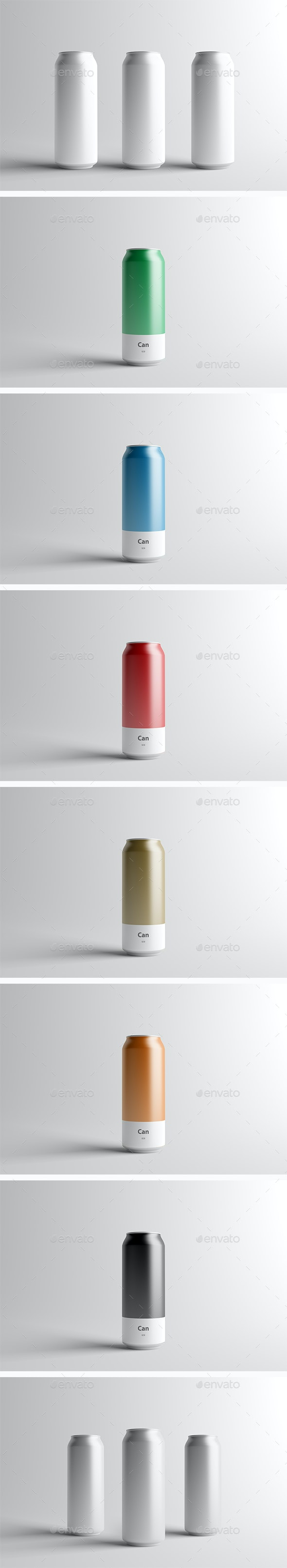 Can Mock-Up - 500ml - Food and Drink Packaging