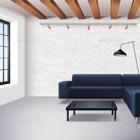 Realistic Loft Interior Concept