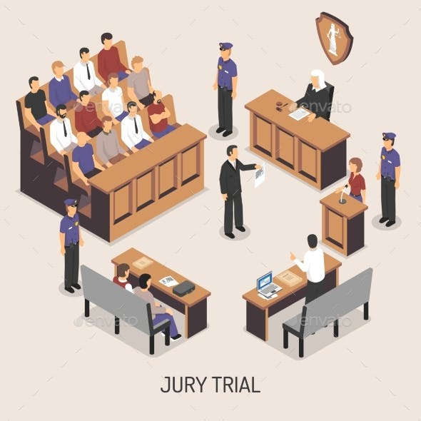 Jury Trial Isometric Composition