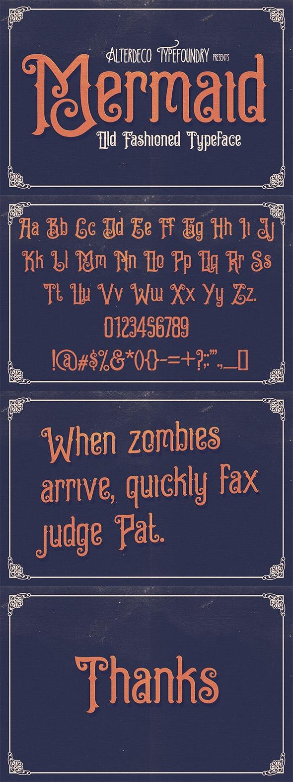Mermaid Typeface - Decorative Fonts