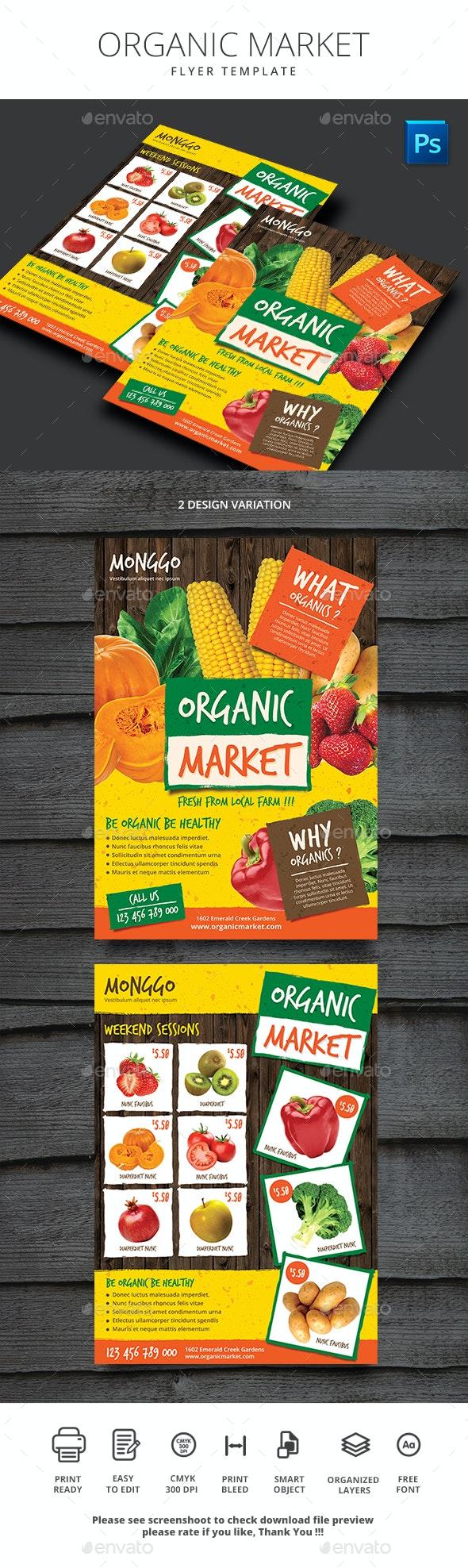 Organic Market Flyer - Sports Events