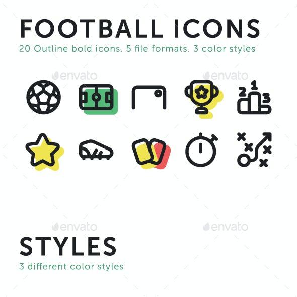 20 Football Soccer Icons