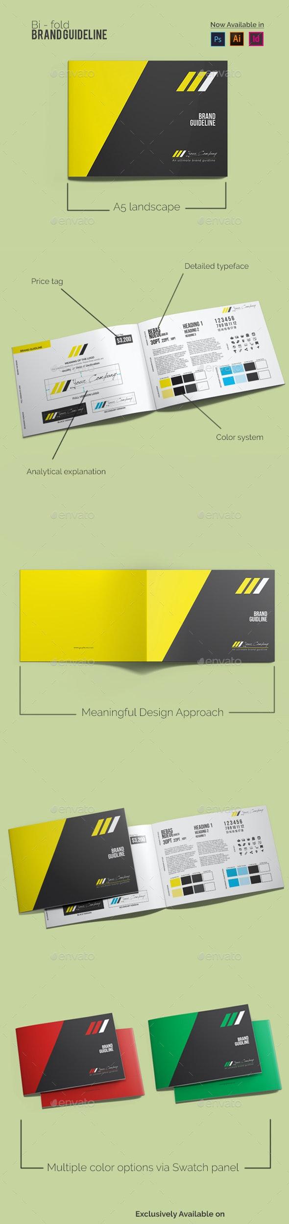 Bi-fold Brand Guideline - Brochures Print Templates