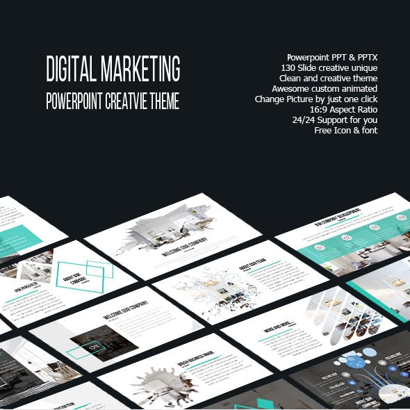 Digital Marketing Powerpoint Creative Template