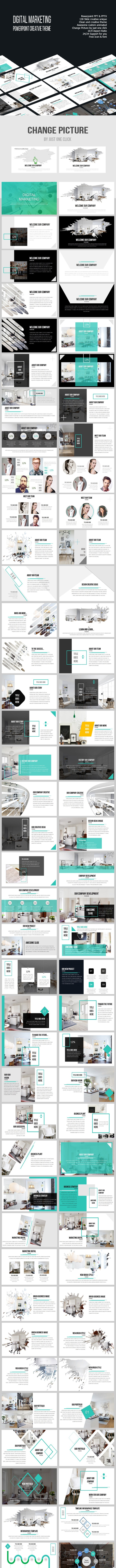 Digital Marketing Powerpoint Creative Template - Business PowerPoint Templates