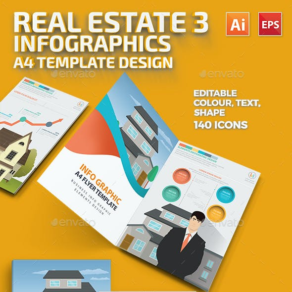 Real estate 3 infographic Design