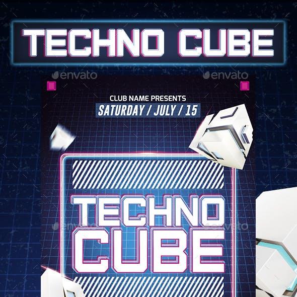 Techno Cube Flyer Template