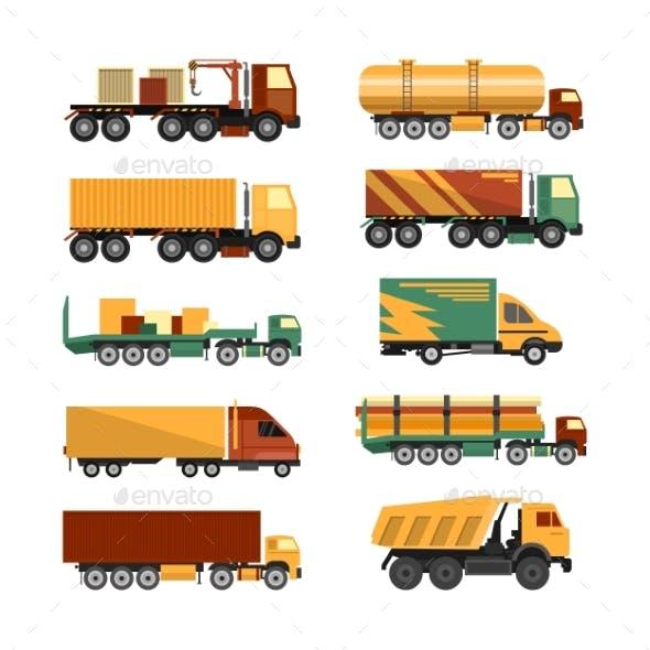Set of Trucks Icons