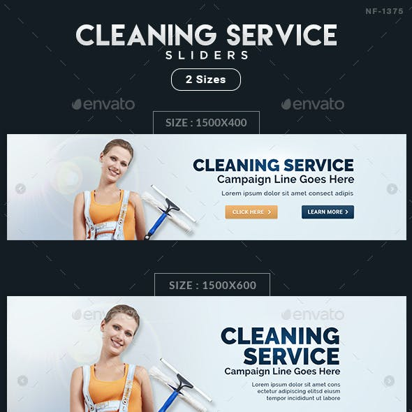 Cleaning Service Sliders - 2 Sizes