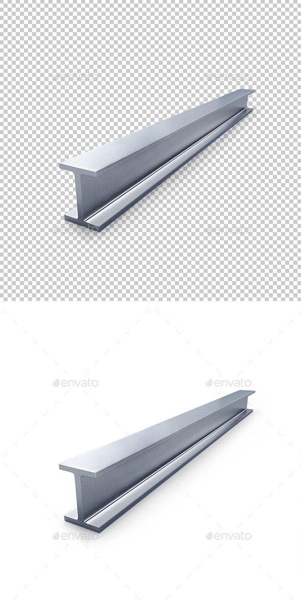 Steel Channel - Objects 3D Renders