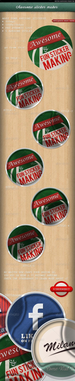 Sticker Maker - Miscellaneous Print