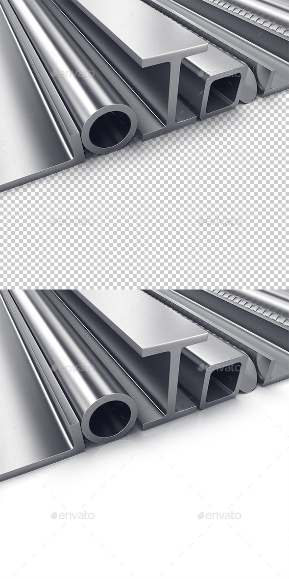 Rolled Metal Products - Objects 3D Renders