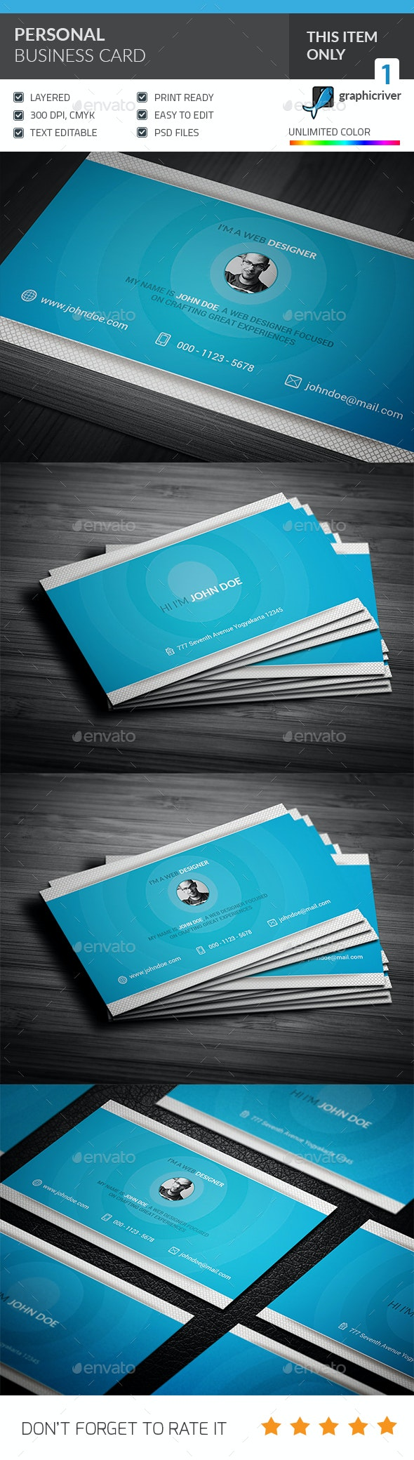 Personal Business card  - Industry Specific Business Cards