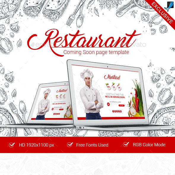 Restaurant Coming Soon Template