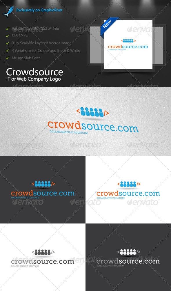 Crowdsource IT/Web Logo Template - Symbols Logo Templates