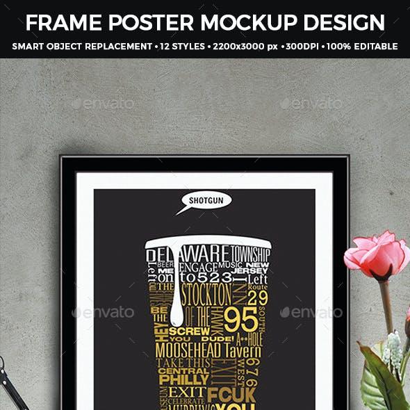 Frame Poster Mockup Design