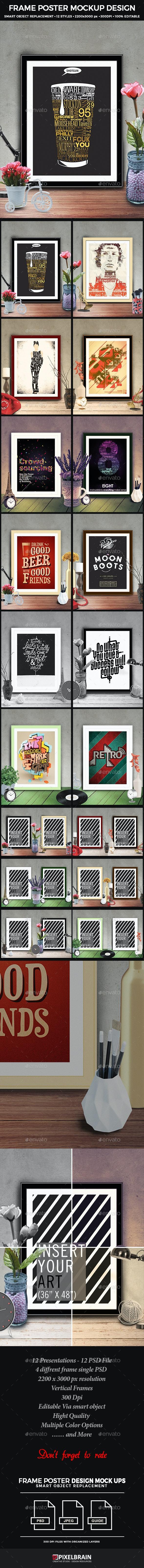 Frame Poster Mockup Design - Posters Print