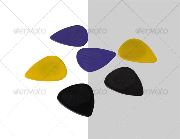 Guitar Picks - Activities & Leisure Isolated Objects