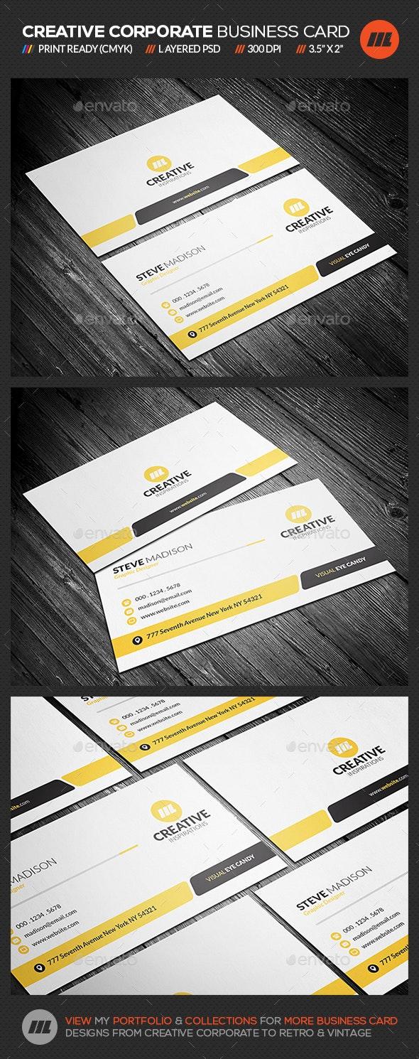 Creative & Modern Corporate Business Card - Corporate Business Cards